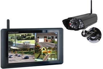 Digitaal camerasysteem - 4ch dvr 9 touch screen  + 1 camera - Smartwares